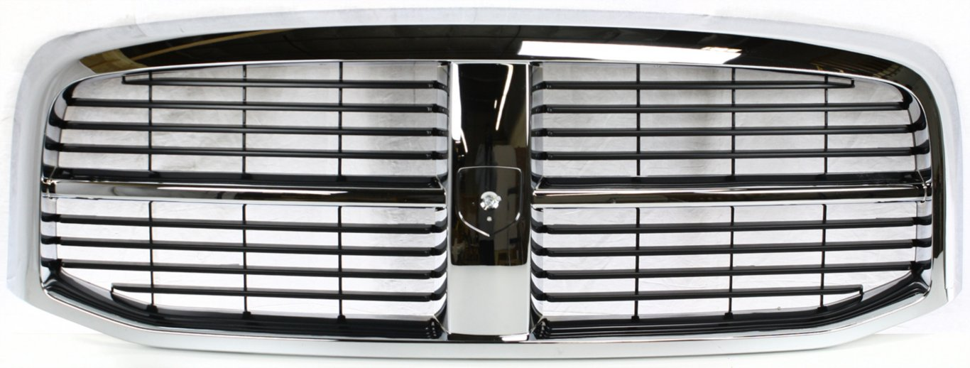 New Front Grille For 2006-2009 Dodge Full Size Pickup Chrome//Black CH1200282