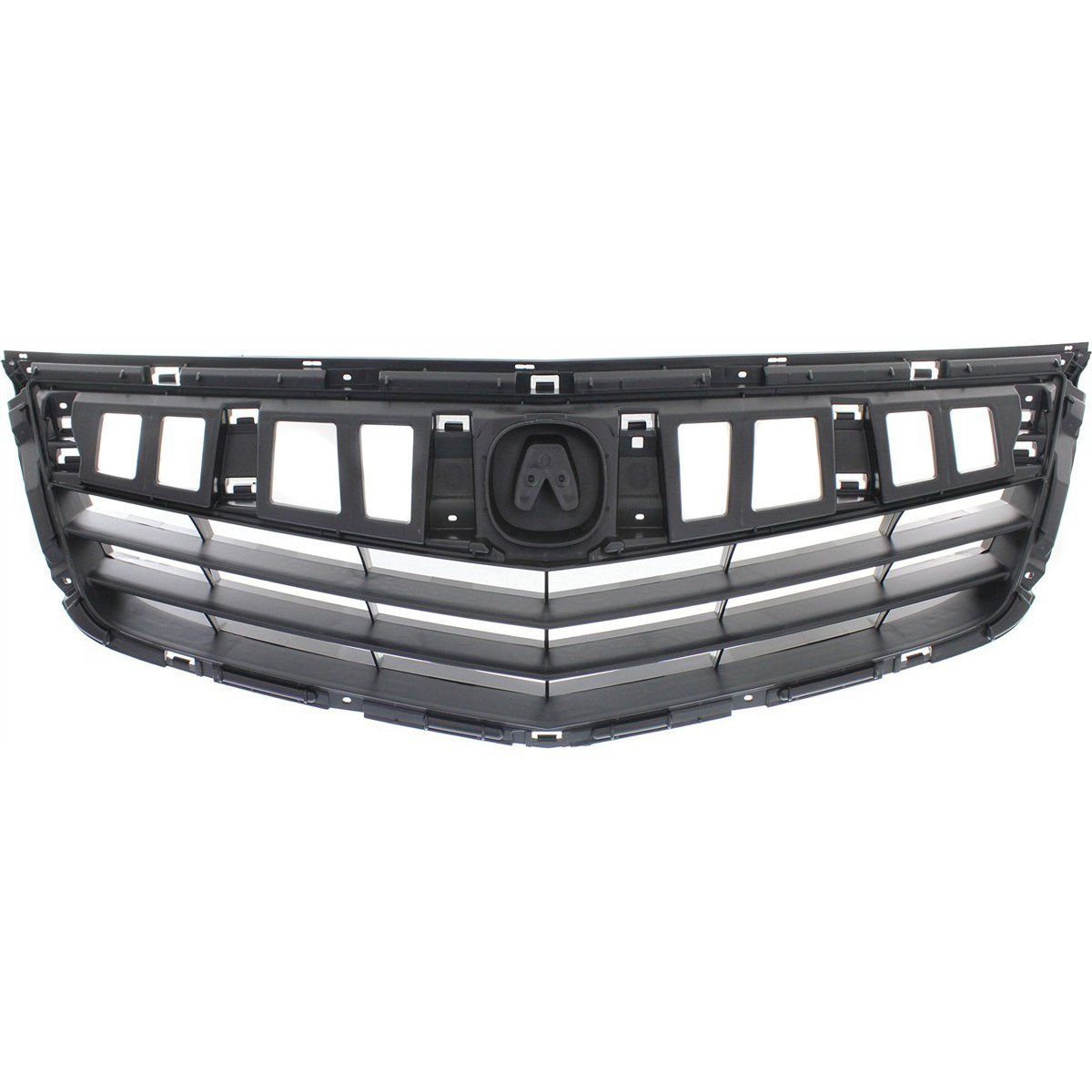 Grille For 2011-2014 Acura TSX Textured Black Plastic