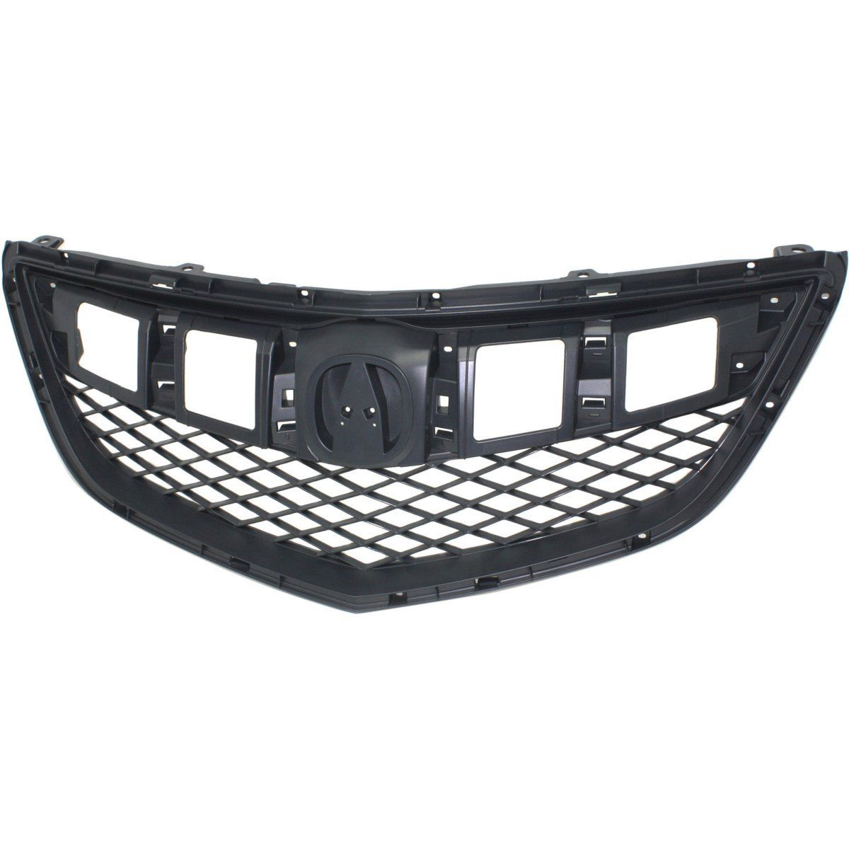 Grille For 2013-2015 Acura RDX Textured Gray Plastic CAPA