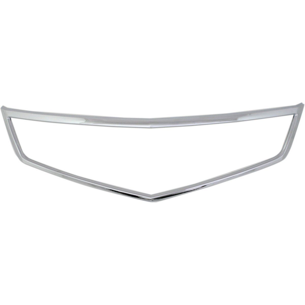 New Grille Trim Grill Chrome For Acura TSX 2006-2008